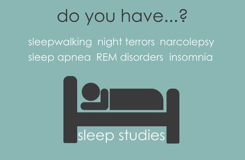 Different sleep disorders - get a sleep study