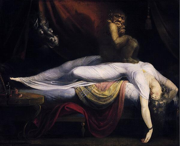 The Nightmare is thought to originate from Sleep Paralysis