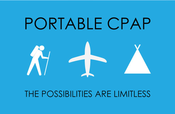 With portable CPAP you can fly, camp, travel, and anything else